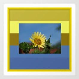 Sunflower Color Palette Art Print