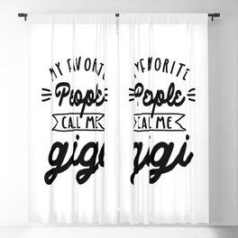 My Favorite People Call Me Gigi - Grandma Gift Blackout Curtain