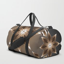 Morning Star Circle (Brown) Duffle Bag