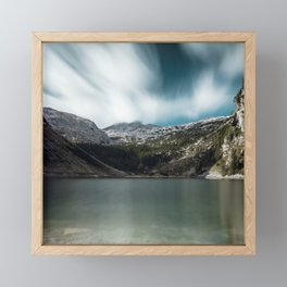 Magnificent lake Krn with mountain Krn, Slovenia Framed Mini Art Print