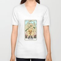reading V-neck T-shirts featuring PIZZA READING by Sagepizza