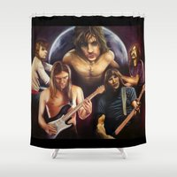 floyd Shower Curtains featuring Pink Floyd: The Art Side of the Moon by The Art of Him