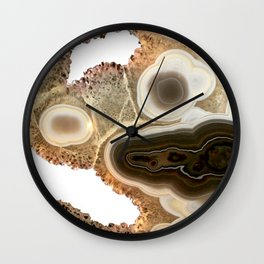 Brown agate Wall Clock