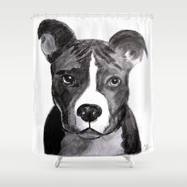 Pit Bull Dogs Lovers Shower Curtain