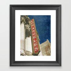 1931 Los Angeles Theatre Vintage Sign Framed Art Print