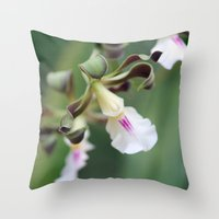 monkey island Throw Pillows featuring Monkey Orchide by BACK to THE ROOTS