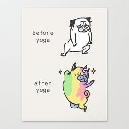 After Yoga Canvas Print