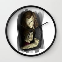 larry Wall Clocks featuring Protective Larry by farawayniall