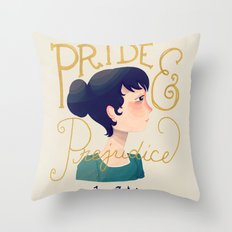 Pride and Prejudice Throw Pillow