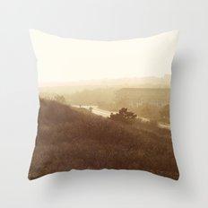 Montauk, NY Sunset Haze Throw Pillow