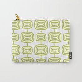 Mid Century Modern Atomic Rings Pattern Chartreuse 3 Carry-All Pouch