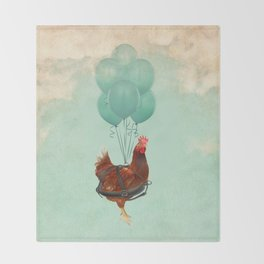 Chickens can't fly 02 Throw Blanket