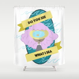 sea girl Shower Curtain