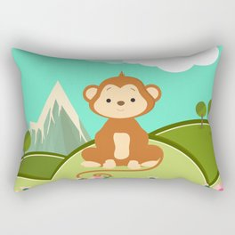 Monkey , nursery decor Rectangular Pillow