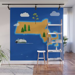 Massachusetts Island Wall Mural