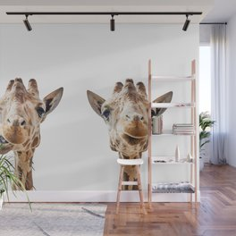 Funny Giraffe Portrait Art Print, Cute Animals, Safari Animal Nursery, Kids Room Poster, Wall Art Wall Mural