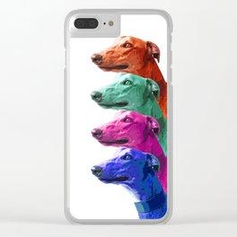 Greyhounds. Pop Art portrait. Clear iPhone Case