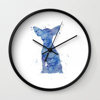 chihuahua Wall Clocks featuring Chihuahua by Carma Zoe