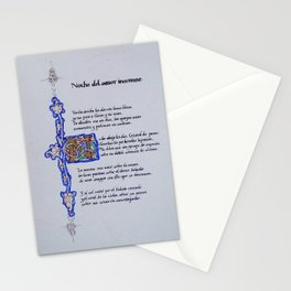 Lorca's Sonnet - Noche del amor insomne Stationery Cards