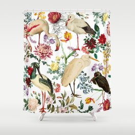 Long Legged Birds I Shower Curtain