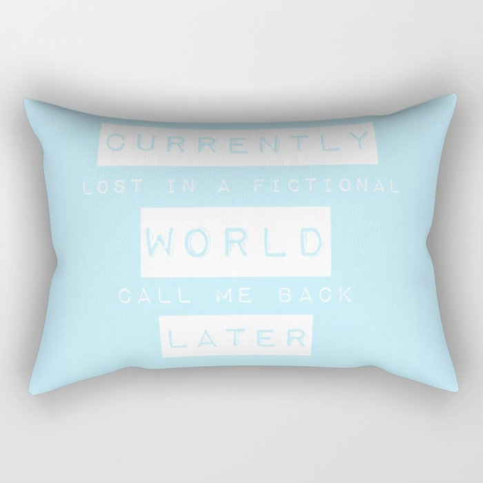 Lost in a Fictional World Rectangular Pillow