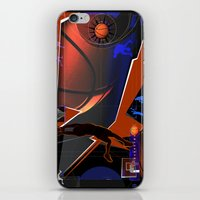 basketball iPhone & iPod Skins featuring Basketball by Robin Curtiss