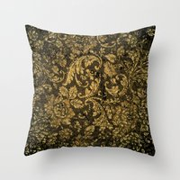 damask Throw Pillows featuring Decorative damask by nicky2342