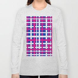 Blue & Pink Interlocking Stripes Long Sleeve T-shirt