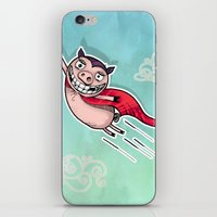 superhero iPhone & iPod Skins featuring Superhero by Aleksandra Jevtovic