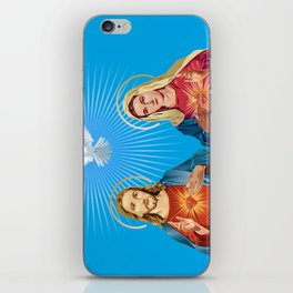 Jesus Christ and the Virgin Mary iPhone Skin