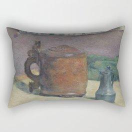 Paul Gauguin - Wood Tankard and Metal Pitcher (1880) Rectangular Pillow