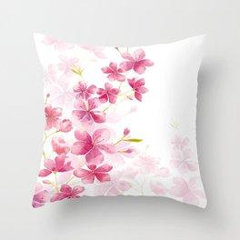 Cherry flower Throw Pillow