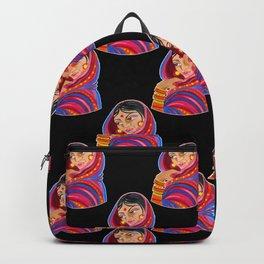 Indian Woman Folk Art Backpack
