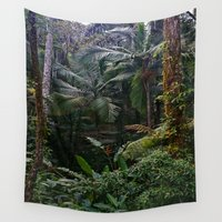 jungle Wall Tapestries featuring Jungle by Claudia Madera