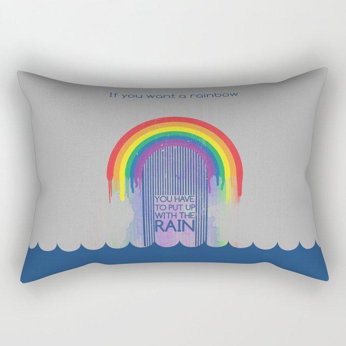 Rainbow Needs Rain Rectangular Pillow