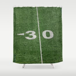 30 line on canadian #football field Shower Curtain