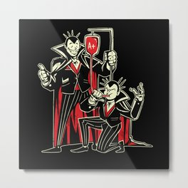 Blood Bong Vampires College Drinking Metal Print