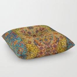 Hereke Vintage Persian Silk Rug Print Floor Pillow