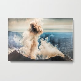 The summit of Karymsky Volcano Metal Print