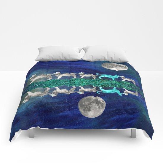 MOON CATS Comforters