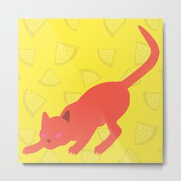 Fruit Cat Metal Print