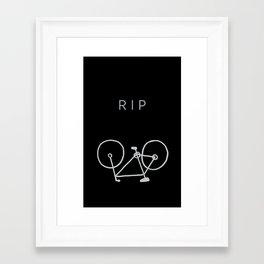 GHOST BIKE Framed Art Print