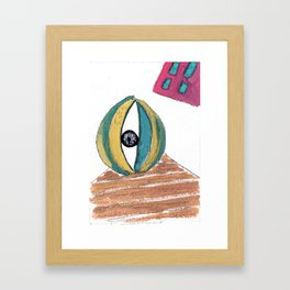 Eye ball Framed Art Print