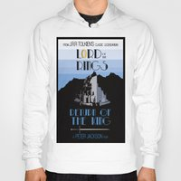 lotr Hoodies featuring LOTR The Return of the King Minimalist Poster by Sean Breeding Arthouse