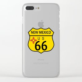 Route 66 New Mexico Flag Clear iPhone Case
