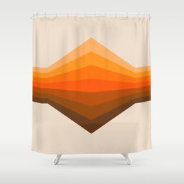 Golden Corner Shower Curtain
