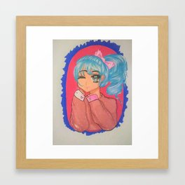 Cute Manga Girl Framed Art Print