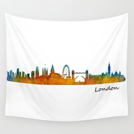 London City Skyline HQ v1 Wall Tapestry