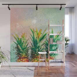 Party Pineapple Wall Mural