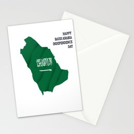 Happy Saudi Arabia Independence Day Stationery Cards